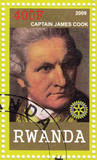 stamp showing Captain James Cook poster