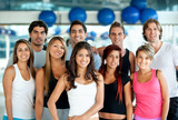 Group of people at the gym