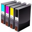 Cartouches d'imprimante à jet d'encre groupées (détouré)