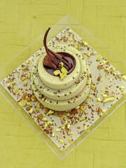 dolce al cioccolato e pistacchi