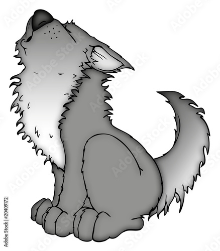 Tattoo wolf heult mond an picture