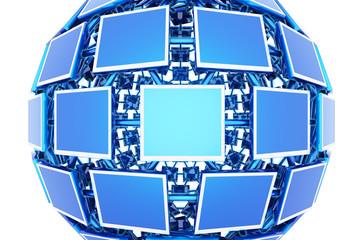 Monitors. Hi-res digitally generated image.