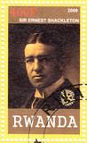 Stamp shows Sir Ernest Shackleton poster