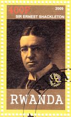 Stamp shows Sir Ernest Shackleton