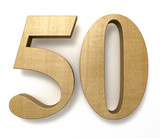 50 wooden birthday celebration anniversary