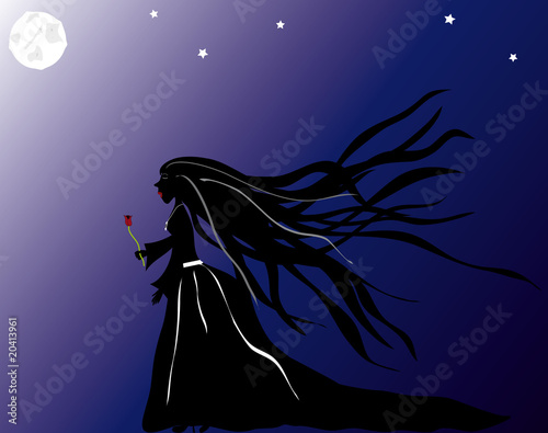 Mujer en la noche