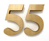 55 wooden birthday celebration anniversary