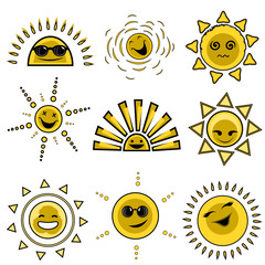 cartoon sun designs