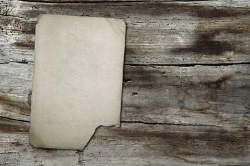 vintage paper on wood texture