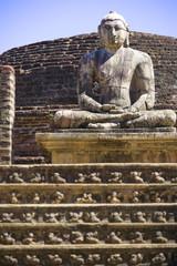 Buddha Statue at Vatadage, Sri Lanka