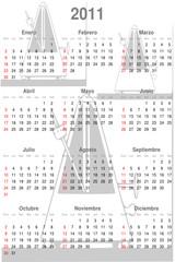 Calendario 2011 español