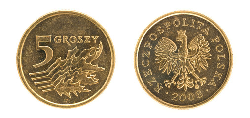 5 groszy - money of Poland