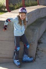 On roller skate