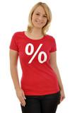 Frau im Sale-Shirt poster