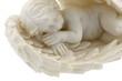 angelot endormi fond blanc