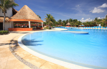 Swimming pool at a Caribbean beach resort