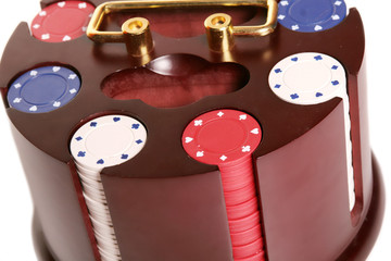 Isolated poker chips