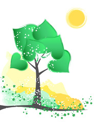 artistic green tree