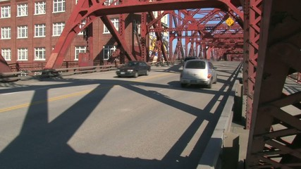 Driving Over Bridge Time Lapse