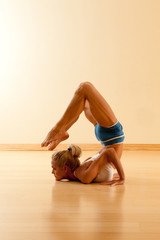 yoga beauty demonstrates the art of balance and grace