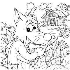 Crafty Wolf (fairy-tale Wolf and 7 kids)