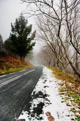 Carretera Santiago de Compostela Nevada