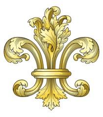 Gold fleur-de-lys vector