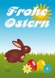 Frohe Ostern mit dem Osterhasen