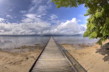 High Dynamic Range (HDR) image of tropical pier
