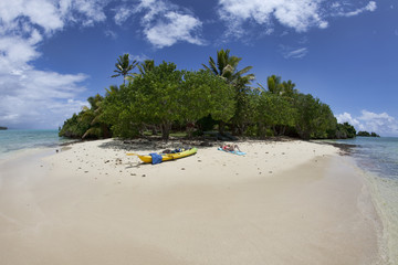 Isolated tropical island, Fiji