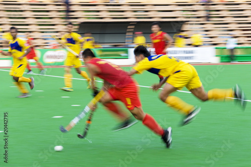Field Hockey Action (Blurred)