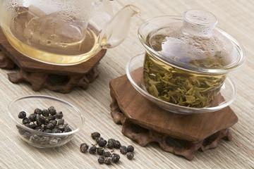 Dragon Pearl Tea in Gaiwan