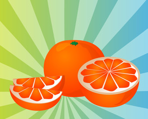 Orange sections illustration