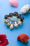 jewel brooch and earring poster