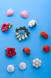 jewel brooch and earring macro poster