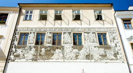 detail of renaissance house, Znojmo, Czech Republic