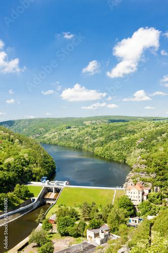 Leinwanddruck Bild dam on Dyje river, Znojmo, Czech Republic