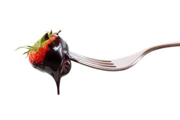 Fragola con cioccolato