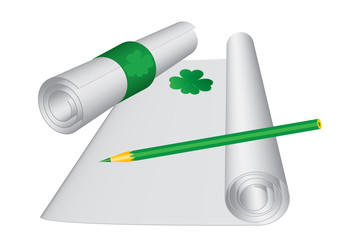 St. Patrick`s day letter, vector illustration