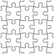 Seamless Jigsaw Puzzle. Vector. Easy to duplicated.