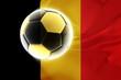 Belgium flag wavy soccer