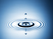 Wassertropfen klare Tropfen blau 3