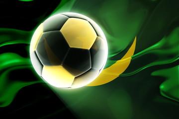 Flag of Mauritania wavy soccer