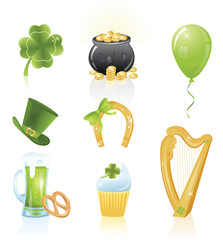St. Patrick's Day's icons.