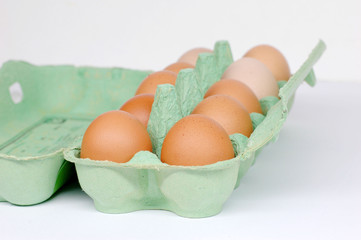 Eier in der Verpackung