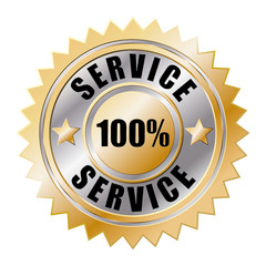 100 % Service Gold Siegel