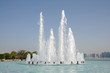 Leinwanddruck Bild - Fountain in Abu Dhabi, United Arab Emirates