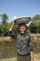 Vietnam Cambodia - Asian woman vendor