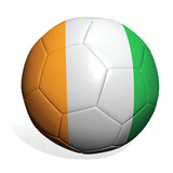 soccer ball Ivory coast poster