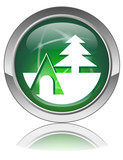 CAMPING Web Button (Campsite Accommodation Camper Book Vector) poster